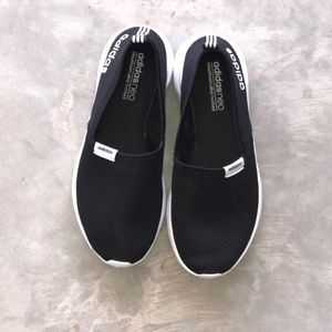 women's adidas neo cloudfoam slip on